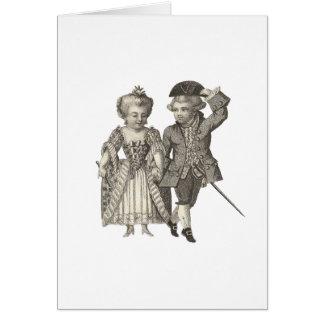Marie Antoinette Louis XVI Vintage Costumes Card