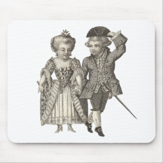 Marie Antoinette Louis XVI Vintage Costumes Mouse Pad