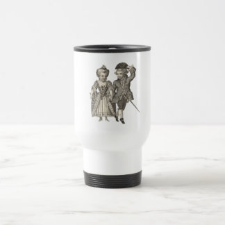 Marie Antoinette Louis XVI Vintage Costumes Travel Mug