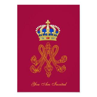 Marie Antoinette Monogram 5x7 Paper Invitation Card