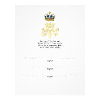 Marie Antoinette Monogram Letterhead
