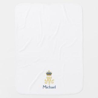 Marie Antoinette Monogram Swaddle Blanket