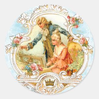 Marie Antoinette Musical Couple Baroque Sticker