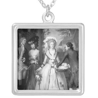 Marie-Antoinette  of Habsbourg-Lorraine Silver Plated Necklace