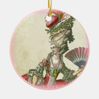 Marie Antoinette Ornament Keepsake Round