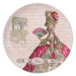 Marie Antoinette Paris & Arc de Triomphe Dinner Plate