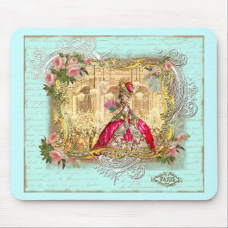 Marie Antoinette Party at Versailles in Aqua Mouse Pad