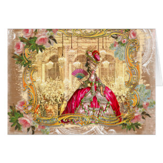 Marie Antoinette Party in Pink at Versailles Cards