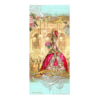 Marie Antoinette Party Versailles French Rack Card