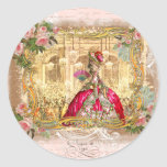 Marie Antoinette Party Versailles Pink Stickers