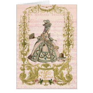 Marie Antoinette Peach Stationery Pour Cerises Card