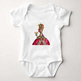 Marie Antoinette peacock and cake Baby Bodysuit