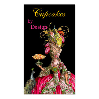 Marie Antoinette peacock and cake Business Card