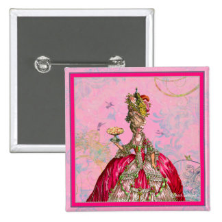 Marie Antoinette Peacock and Cake Button