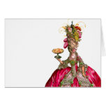 Marie Antoinette peacock and cake Card