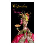 Marie Antoinette peacock and cake Double-Sided Standard Business Cards (Pack Of 100)