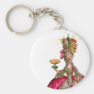 Marie Antoinette peacock and cake Key Chain