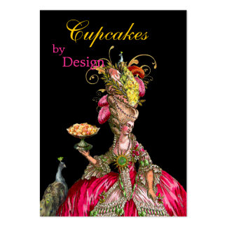 Marie Antoinette peacock and cake Large Business Card