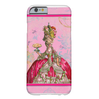 Marie Antoinette & Peacock Barely There iPhone 6 Case