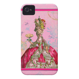 Marie Antoinette & Peacock iPhone 4 Case-Mate Case