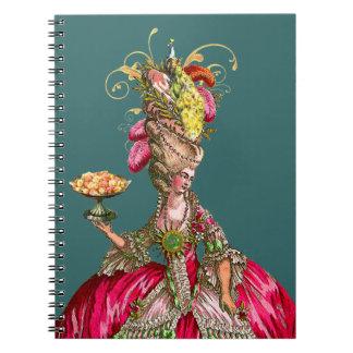 Marie Antoinette & Peacock Note Book