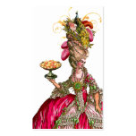 Marie Antoinette Peacock Place Card/Business Double-Sided Standard Business Cards (Pack Of 100)