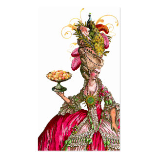 Marie Antoinette Peacock Place Card/Business Business Card