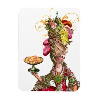 Marie Antoinette & Peacock Rectangular Photo Magnet