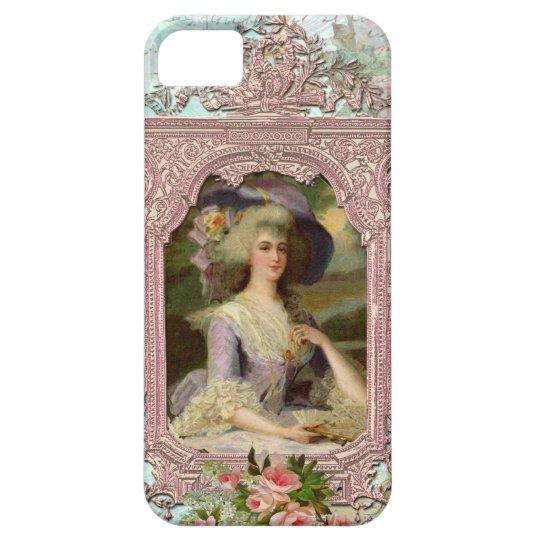Marie Antoinette & Pink Frame iPhone SE/5/5s Case