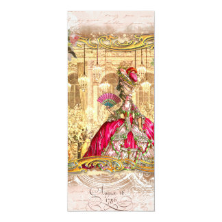 Marie Antoinette Pink Party at Versailles Card