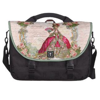 Marie Antoinette & Pink Roses Laptop Bags