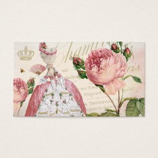Marie Antoinette Pink Vintage Roses Business Cards