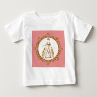 Marie Antoinette Poodle Baby T-Shirt