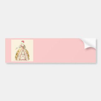 Marie Antoinette Poodle Bumper Sticker