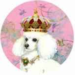 Marie Antoinette Poodle Queen Ornament Sculpture Photo Cutout