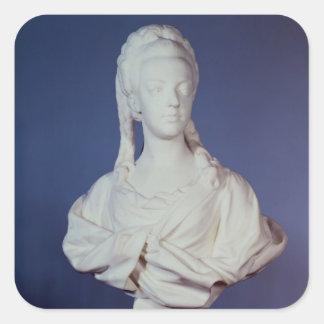 Marie-Antoinette , portrait bust Square Sticker