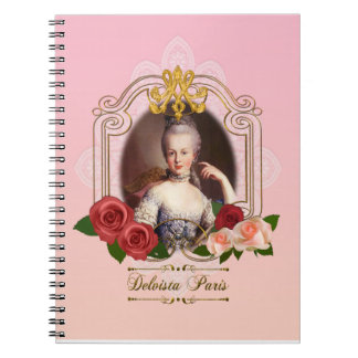 Marie Antoinette portrait notebook pink