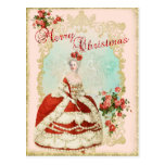 Marie Antoinette Portrait Postcard Christmas rose