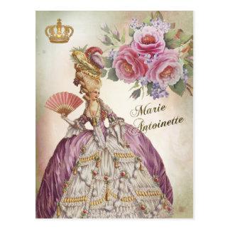 Marie Antoinette Portrait Postcard vintage rose