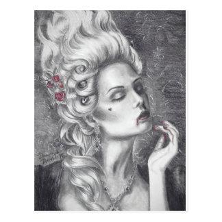 Marie Antoinette Postcard Vampire Postcard
