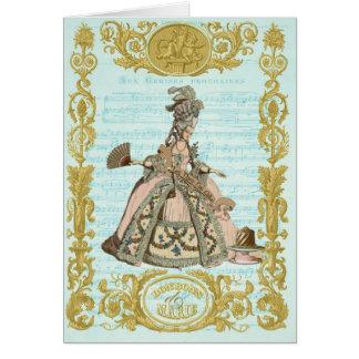 MARIE ANTOINETTE Pour Cerises Bonbons Greeting Card