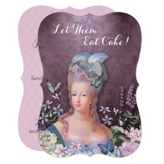 Marie Antoinette Purple Floral Card