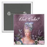 Marie Antoinette Purple Floral Damask Pinback Button