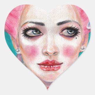 Marie Antoinette Queen Bee Heart Sticker