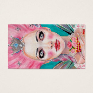 Marie Antoinette Queen Bee - let them eat cupcake Business Card
