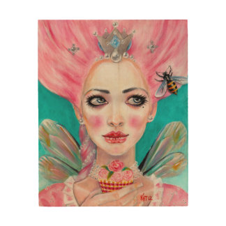 Marie Antoinette Queen Bee Let them eat cupcake Wood Wall Art