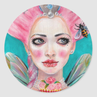 Marie Antoinette Queen Bee Round Sticker