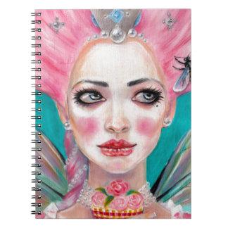 Marie Antoinette Queen Bee Spiral Notebook