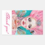 Marie Antoinette Queen Bee thank you stickers
