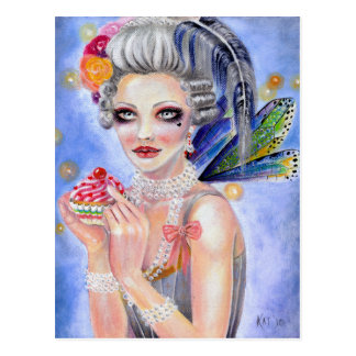 Marie Antoinette - Queen of Cupcakes Post Card